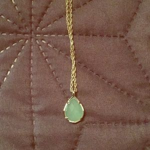 New gold and mint Kendra Scott necklace with bag